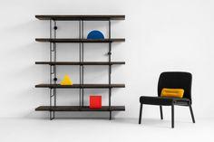 GROP SINGLE regał modułowy w stylu bauhaus polski design Mebloscenka Bauhaus, Shoe Rack, Teak, Shelving, Loft, Furniture, Design, Home Decor, Products