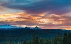 apple ipad Daimond peak sunset wallpaper