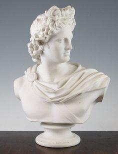 Busto de Apollo em Parian do sec.19th, depois de C. Delpech, Uniao de Arts de Londres, 1861, 34cm de altura, 12,835 EGP / 4,800 REAIS / 1,490 EUROS / 1,700 USD https://www.facebook.com/SoulCariocaAntiques