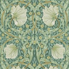 Bring traditional charm to the home with this Pimpernel wallpaper from Morris & Co. With a complex structured floral pattern and swirling leaves, it was originally designed by William Morris in 187...
