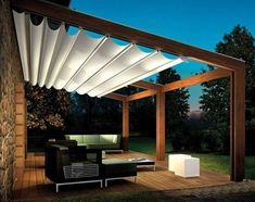 Would you like to have a beautiful pergola built in your backyard? You may have a lot of extra space available for something like this, but you'll need to focus on checking out different pergola plans before you have anything installed. Pergola Attached To House, Pergola With Roof, Wooden Pergola, Outdoor Pergola, Backyard Pergola, Pergola Plans, Covered Pergola, Pergola Lighting, Modern Backyard