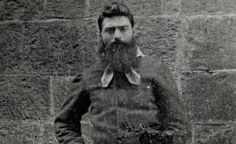 Australia's Famous Outlaw, Ned Kelly, Will Finally Be Laid to Rest—The family wishes for  privacy to be respected  http://ht.ly/gUJ9o    The remains of Ned Kelly, Australia's most famous bushman outlaw will finally be laid to rest, over 130 years after he was executed by hanging for murder. The remains were exhumed from a mass prison grave and were positively identified in 2011 by DNA comparison to a descendant. The Huffington Post reports,