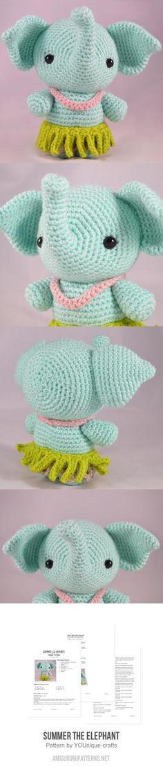 Summer The Elephant Amigurumi Pattern