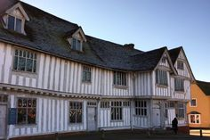 Lavenham Bury St Edmunds, Saints, Cabin, Mansions, House Styles, Home Decor, Decoration Home, Manor Houses, Room Decor