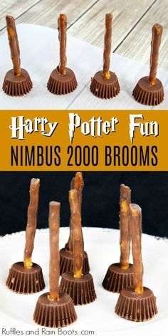 broomsticks nimbus potter harry snack ideas 2000 Nimbus 2000 Broomsticks Harry Potter Snack Ideas Nimbus 2000 Broomsticks Harry Potter Snack IdeYou can find Easy to make recipes and more on our website Harry Potter Snacks, Baby Harry Potter, Harry Potter Halloween, Harry Potter Motto Party, Gateau Harry Potter, Harry Potter Marathon, Harry Potter Cupcakes, Harry Potter Thema, Harry Potter Birthday Cake