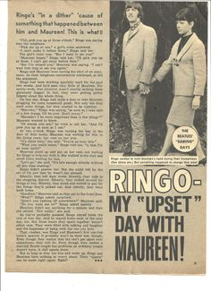 The Beatles, Ringo Starr, Full Page Vintage Clipping, Maureen Starkey