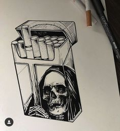Trippy Drawings, Graffiti Drawing, Dark Art Drawings, Tattoo Design Drawings, Pencil Art Drawings, Art Drawings Sketches, Tattoo Sketches, Art Sketches, Skull Drawings