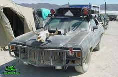Post Apocalyptic Mad Max Wasteland Road Warrior with Skull Hood Ornament