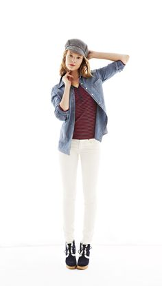 Boyfriend shirt chambray #GapLove