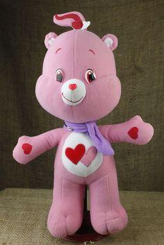 "Nanco Love A Lot Care Bear Pink Hearts Plush Stuffed 13"" Doll Toy Kenner P20"
