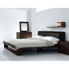 Fenton Modern Dark Brown Queen Platform Bed | Overstock.com Shopping - Great Deals on Baxton Studio Beds