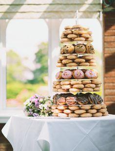 Doughnut wedding cake, by Krispy Kreme