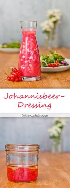 Mal eine leckere Abwechslung ist das Johannisbeer-Dressing und passt perfekt zu einem sommerlichen Salat. Guten Appetit! :)
