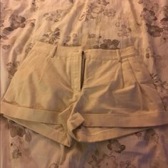 Miguel Adrover Shorts Gently used, off white shorts from Miguel Androver. These are authentic designer shorts from Miguel Androver Made in Italy. They are in great condition with no stains or tears!  Miguel Adrover Shorts