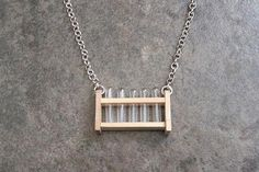 Test tube rack necklace