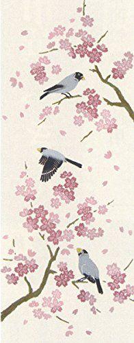 PRAIRIEDOG WAFUKA Tenugui Spring situation Java Sparrow and Cherry Blossom