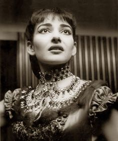 Maria Callas, prima donna assoluta, 1950s  If you have never listened to opera let me tell you that SHE is where to start - and end! BEST VOICE EVER and a dive to boot!