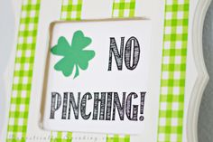 No Pinching St. Patrick's Day Free Printable