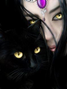 Bastet (Looks just like my cat Midnight)