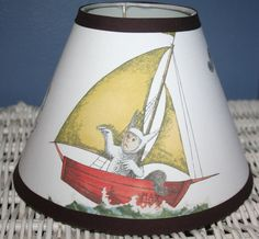 LampShade made w Pottery Barn Kids WHERE THE Wild Things Are. $17.50, via Etsy.