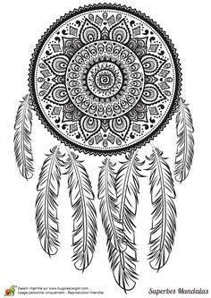 Home Decorating Style 2020 for Dessin A Imprimer Mandala Difficile, you can see Dessin A Imprimer Mandala Difficile and more pictures for Home Interior Designing 2020 at Coloriage Kids. Mandala Draw, Mandala Coloring, Dream Catcher Coloring Pages, Coloring Book Pages, Mandalas Painting, Mandalas Drawing, Zentangle Patterns, Zentangles, Sketches