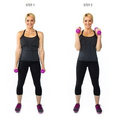 BICEPS Hammer Curl: This exercise is great if your looking to add a little bump to your bicep!
