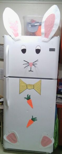 Easter, bunny, fridge door decor