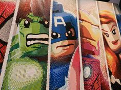 Marvel Superheroes Life-Size LEGO Mosaic at E3 2013 | Flickr - Photo Sharing!