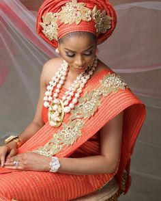On www.bellanaija.com/weddings !  #ShadeOkoya & @AnnaEbiere #AnnaBanner  star in @adejoke_gele campaign!  Photography: @BigHStudios Makeup on Shade Okoya: @shomya_lag Makeup on Anna Banner: @flawlessfacesbyjane All outfits – Gele, Beading and Accessories: @adejoke_gele