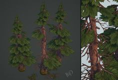 Hand painted environment - Wood house - polycount