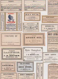 20 Antique 19th Century Vintage Medicine by TheOldeChemistShop, £9.95