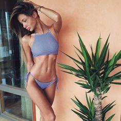 High neckline bikini