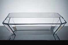 Alexandra Von Furstenberg /Bullet Acrylic Coffee Table in All Clear