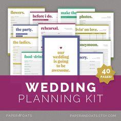 Wedding Planning Kit – Editable Wedding To Do List, Wedding Planner Printable…