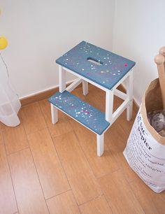 En este post te enseñamos un diy para customizar el taburete BEKVÄM de Ikea y no preocuparse nunca más si se mancha de pintura.
