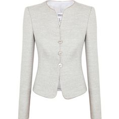 Armani Collezioni Metallic Tweed Jacket ($835) ❤ liked on Polyvore