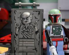 Han Solo in Carbonite by DigiNik13   LEGO Star Wars Han Solo Carbonite Block & Boba Fett Minifigs