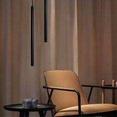 Egoluce design Stick led minimallistinen riippuvalaisin Decor, Furniture, Led, Chair, Home Decor, Curtains