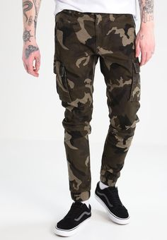 Only & Sons ONSNEWTANG - Cargo trousers - olive night - Zalando.co.uk
