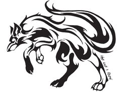 tribal tatoo for love | tribal wolf tattoo by mireille rae designs interfaces tattoo design ...