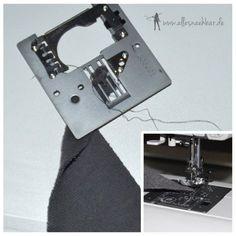 Kennst du das auch? Die Nähmaschine kommt auf den ersten zu nähenden Zentimetern nicht voran, weil der Nahtanfang von der Maschine gefressen wird.