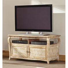 Keep components, gaming and accessories organized and out of sight using this Alaterre Furniture Rustic Reclaimed TV Stand in Driftwood. Reclaimed Wood Tv Stand, Reclaimed Wood Furniture, Tv Stand Brown, Tv Armoire, Cool Tv Stands, Distressed Texture, Thing 1, Flat Panel Tv, Entertainment Center
