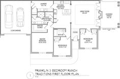New 3 Bedroom Ranch Floor Plan at the Tradition