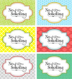 No Soliciting Signs and more!