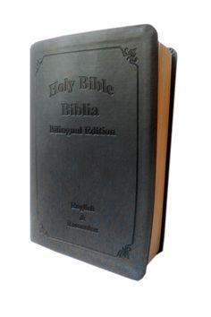 Biblia bilingva [romana-engleza], culoare gri