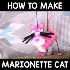 Learn how to make a cat marionette puppet. When it comes to toilet paper crafts for kids, making puppets is the most fun. Toilet Paper Crafts, Paper Roll Crafts, Paper Crafts For Kids, Diy For Kids, Fun Crafts, Puppets For Kids, Marionette Puppet, Puppet Crafts, Puppet Making