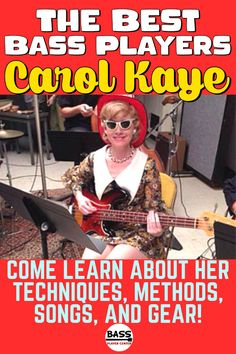 Carol Kaye is recognized as one of the best bass players of all time - Come learn about her techniques, methods, songs, and bass guitar gear. #BassGuitar #CarolKaye #FemaleBassPlayers #Bassists #BassGuitarQuotes #BestBassPlayers Bass Guitar Scales, Play Guitar Chords, Learn Bass Guitar, Bass Guitar Lessons, Guitar Lessons For Beginners, Guitar Songs, Carol Kaye, Bass Guitar Accessories, Teach Yourself Guitar