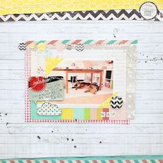 scrapbooking page created for GlitzDesign