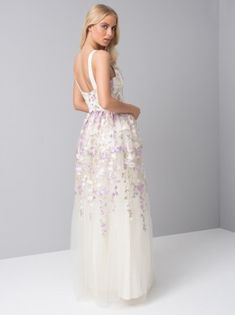 79ad79168bbd Faye Ivory Backless Lace Fishtail Maxi Dress With Long Sleeves ...