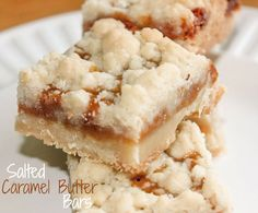 Salted Caramel Butter Bars - perfect combination of butter and caramel; creating the most delicious treat!